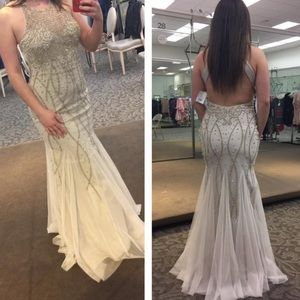 Gorgeous champagne prom dress
